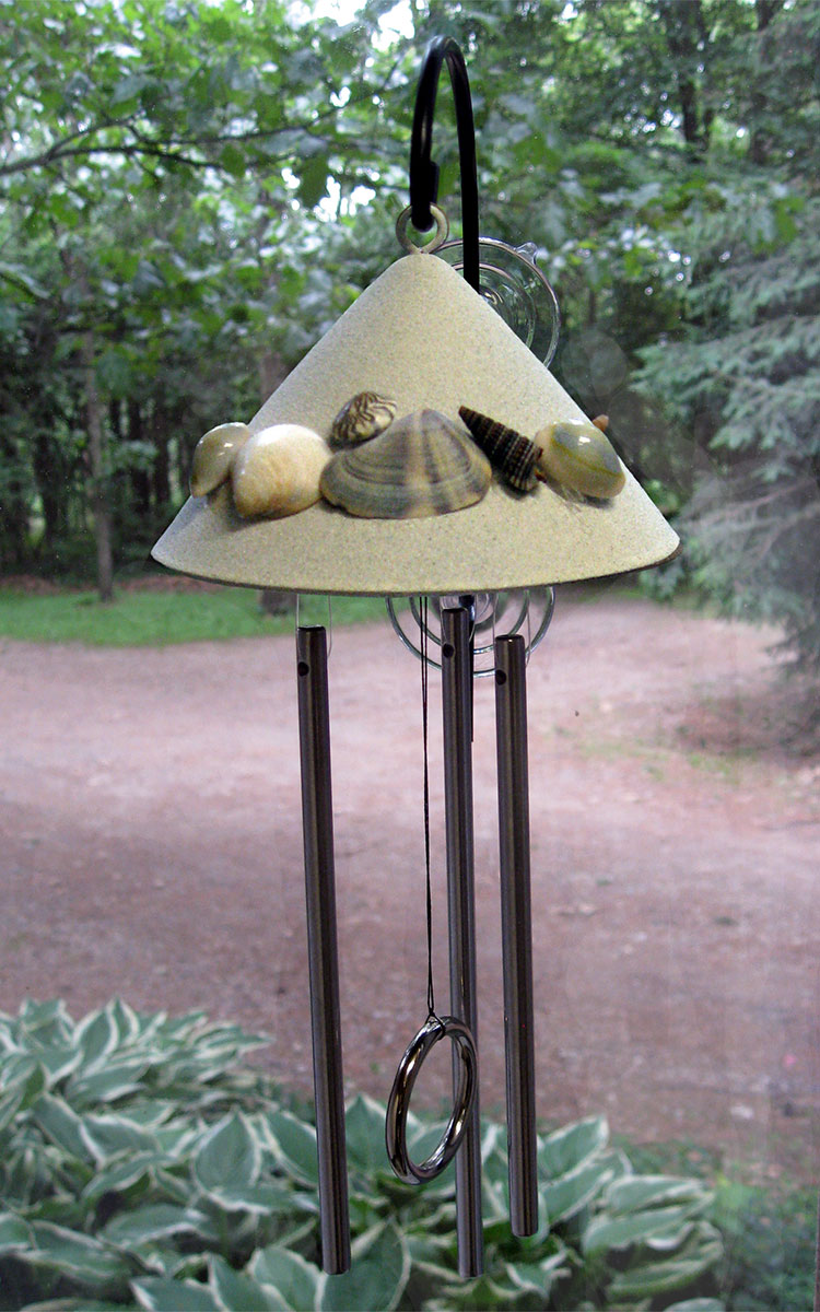 Seashell Window Solar Chime